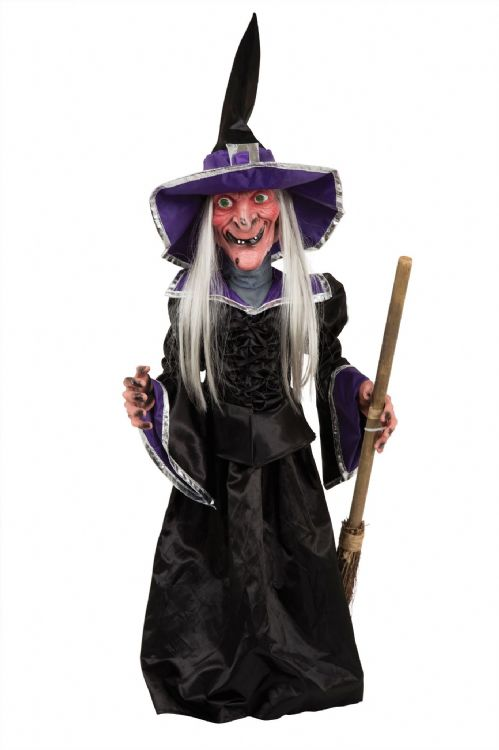 "Halloween Witch 28"" Light Up + Sound Trick Or Treat Party Decoration"